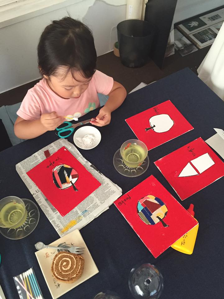 kids painting mako